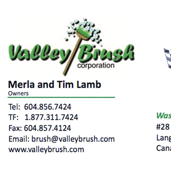 Valley Brush Business Card